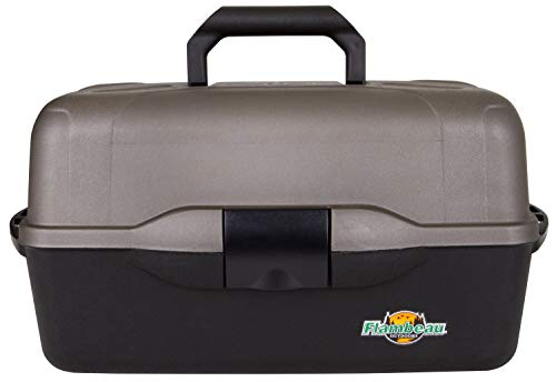 Flambeau Tackle XL 3-Tray Tackle Box, Black/Dark Gray