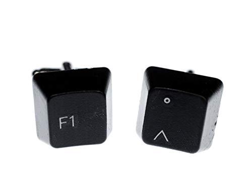 Miniblings F1 Grad + Box PC Tasten Manschettenknöpfe Vintage Taste Computer - Herrenschmuck Manschettenknopf Cufflinks Hemdknöpfe I Holzbox inklusive