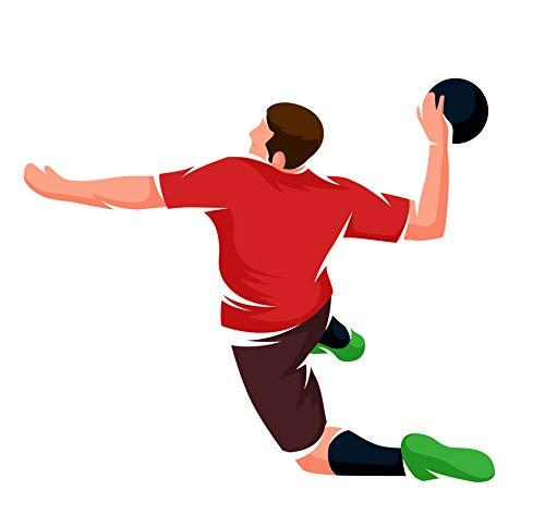 EmmiJules Wandtattoo Handball Handballer - Made in Germany - in verschiedenen Größen - Handballspieler Kinderzimmer Junge Sport Wandsticker Wandaufkleber (42cm x 50cm)