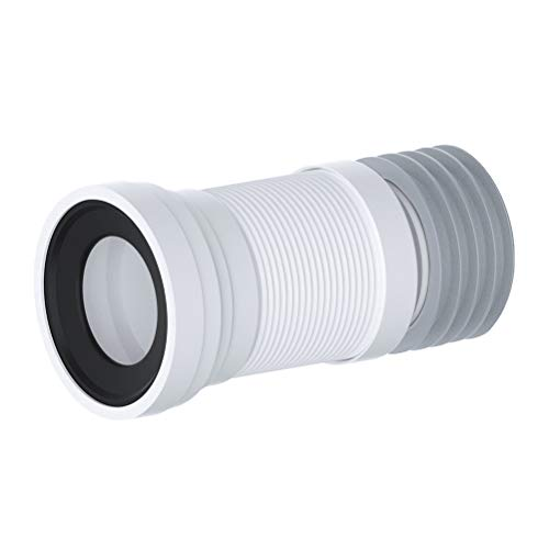 Conector flexible para inodoro WC Wras aprobado flexible Slinky Fit Tubos 260-500 mm, color blanco