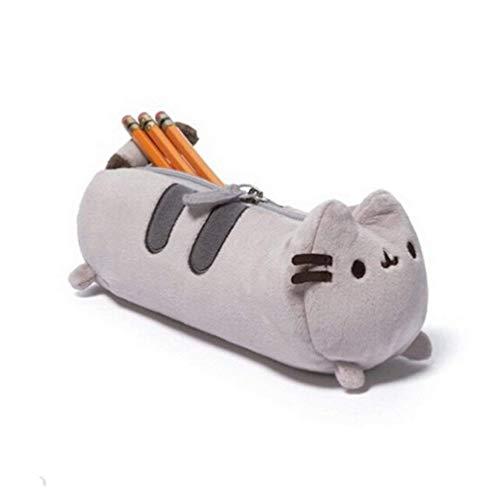 Romote A Bag of Crayon-Bleistift-Kasten-Plüsch-Katze Nette Design Kreative Bleistifthalter Lustige ändern Veranstalter Plumer Briefpapier Studenten für Kinder (Gray)
