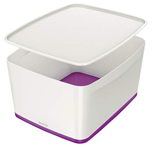 Leitz MyBox WOW Groß mit Deckel, Aufbewahrungsbox, 52161062, violett