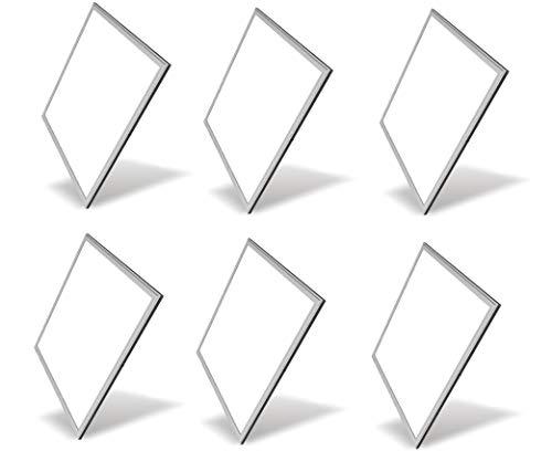 6 X Pannello A Led 48W Quadrato 60 X 60 Cm Plafoniera Ad Incasso A Luce Fredda