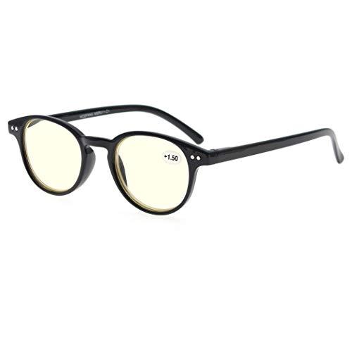 MODFANS Gafas de Lectura 2.0 Anti luz Azul/Gafas de Ordenador para Hombres y Mujeres,Gafas con Filtro Luz Azul,Anti-UV,Anti-Fatiga Visual,Proteccion para Pantalla/TV/Tablet/Movil/Juegos/Smartphone