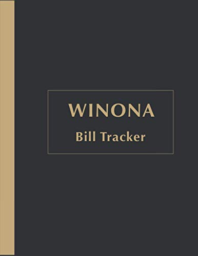 Winona Bill Payments Tracker: Custom Planner Navy Monthly Bill: Payment Organizer and Debt Tracker Keeper Log Book Money Planner Journal Budget Money Debt Tracker Notebook