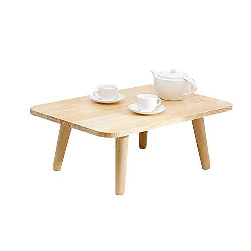 HAIZHEN Tables basses Table basse en bois massif à 100%, table basse pour le rebord de la fenêtre (Couleur : A-rectangle)