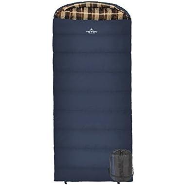 Teton Sports Celsius XL -7C/+20F Sleeping Bag; 20 Degree Sleeping Bag Great for Cold Weather Camping; Lightweight Sleeping Bag; Hiking, Camping; Blue, Left Zip