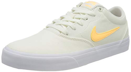 Nike SB Charge Cnvs, Scarpe da Ginnastica Unisex-Adulto, Multicolore (Sail/Melon Tint-Sail-White-Black), 38.5 EU