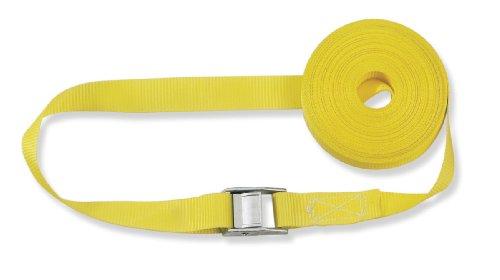 Braun GmbH 200-1-400 400 Spanngurt daN, einteilig, für Privattransporte, nach DIN EN 12195-2, Farbe gelb, 4 m Länge, 25 mm Bandbreite, mit Klemmschloss.