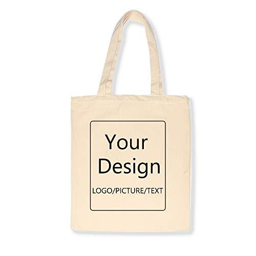 Gepersonaliseerde op maat gemaakte katoenen canvas draagtas, lege canvas draagtas in herbruikbare katoenen canvas draagtas, gebruikt om te winkelen, handwerk, geschenken