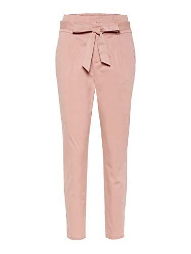 Vero Moda NOS Damen VMEVA HR LOOSE PAPERBAG COT PANT NOOS Hose Rosa (Misty Rose), 38W / 30L (Herstellergröße: Medium)