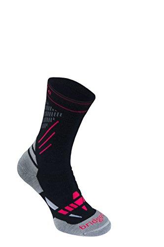 Bridgedale Women's Nordic Race - Merino Endurance Socks, Black/Stone, Small