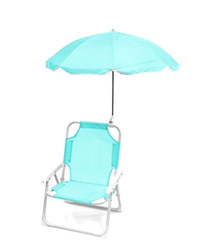 Heritage Kids Blue Beach Chair, Aqua