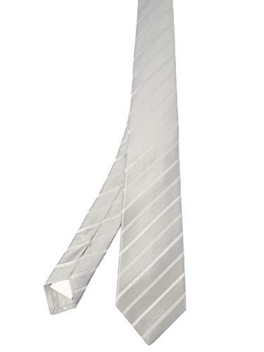 Kiton Herren 1E324grigio Grau Seide Krawatte