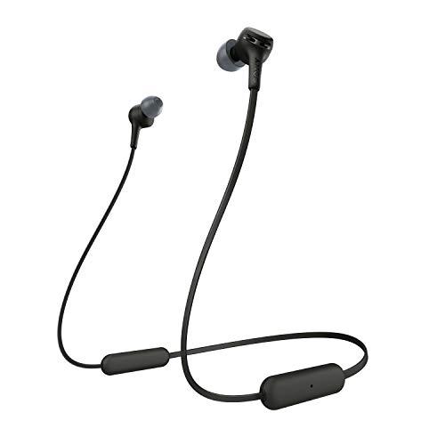 Sony WI-XB400B kabellose In-Ohr Kopfhörer (eingebauter Sprachassistent, Neckband Design, Bluetooth 5.0, NFC, Headset mit Mikrofon für Telefon & PC/Laptop) schwarz
