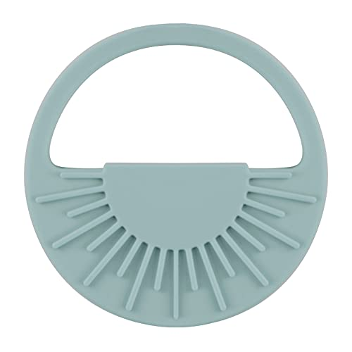 KKL Baby Silicone Teether Toy - Semicircle Easy to Hold Soothing Teething Toy - BPA Unisex Teether Rings - Teething Relief Pacifier(Blue)