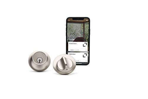 Level Lock - Touch Edition, Keyless Entry Using Touch, a Key Card, or Smartphone. Bluetooth Enabled, Works with Alexa, Ring and Apple HomeKit - Satin Nickel