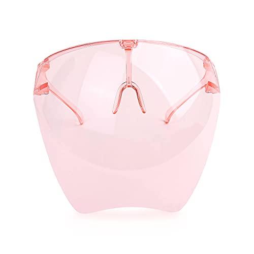 JNUYISW Gafas de sol Visera Cubierta completa Gafas de sol protectoras multicolor Ligero para hombre y mujer-Rosa