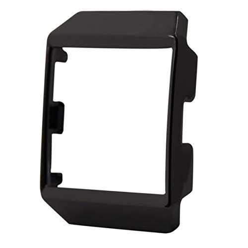 Uhren Schutzhülle Uhrenabdeckung Fall Rundumschutz Metallrahmen Stoßfest Uhrenabdeckung für Fitbit Ionic Smart Watch (Schwarz)