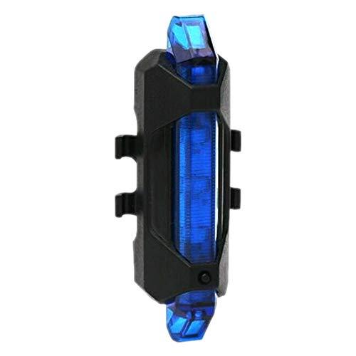 Livecity Rücklicht für Fahrrad, MTB, Fahrrad, Rücklicht, wiederaufladbar, USB, Rücklicht für Fahrrad, Sicherheit, Blau