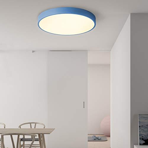 """Avior Home 24 W LED Deckenlampe Deckenleuchte""""Pastell"""" Warmlicht, Blau Ø40 cm für Wohnzimmer, Schlafzimmer, Küche"""