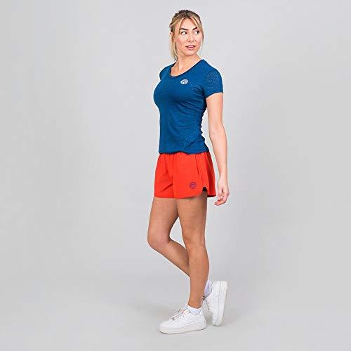 BIDI BADU Damen Sport Shorts Kurze Trainingshose Schnelltrockende Tennisshorts Mit Integrierter Tight Und 2 Seitlichen Taschen Rot - Tiida Tech 2 In 1 Shorts - red/Dark Blue, Grˆfle:M