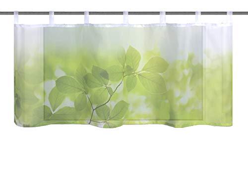 Home fashion LEAF, polyester, groen, 45x120 cm