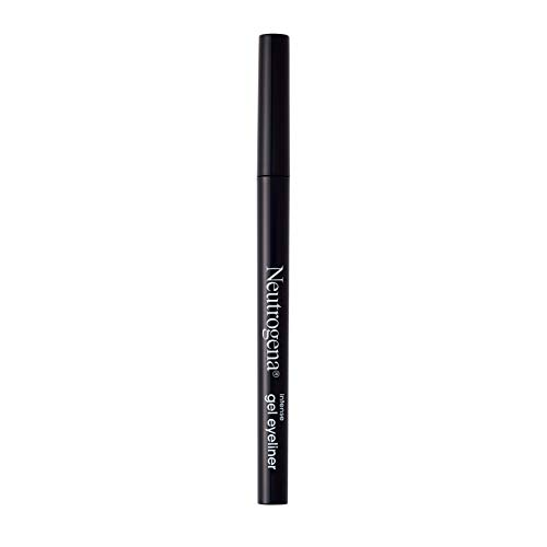 Neutrogena Intense Gel Eyeliner with Antioxidant Vitamin E, Smudge- & Water-Resistant Eyeliner Makeup for Precision Application, Jet Black, 0.004 oz