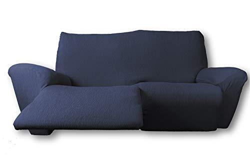 FRESH HOME HOME TEXTILES Funda de sofá elástica Relax Fun (Azul, Sofá Relax 3 plazas.)