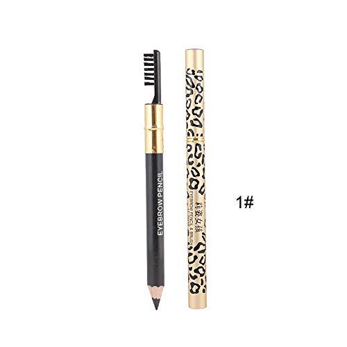 Maquillage De Beauté, Lenfesh Pinceau Crayon Eyeliner LéOpard ImperméAble Brun Avec Contour Des Yeux Marron Noir