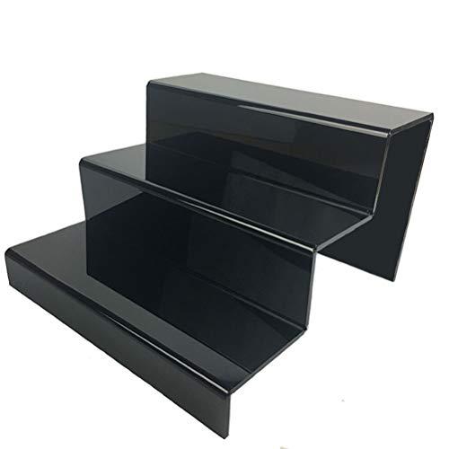 GFPR Acryl Display Ständer, Dekotreppe 3-Stufig 24 * 25.5 * 15.5cm Artikeldekoration für Zubehör, Brieftaschen