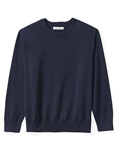 Amazon Essentials Men's Big & Tall Crewneck Sweater fit by DXL, Navy, 2X