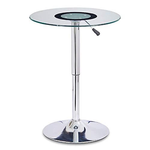 FEE-ZC moderne eenvoud koffie tafel, gehard glas hoog ronde tafel tillen tafel ijzer kunst bijzettafel het bedrijf onderhandelen tafel bar kleine koffie tafel, 60 cm