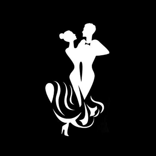 Kllomm 3 Stück 8,3 * 14,7 Interessante schöne Tänzer Menschen Dekoration Auto Aufkleber Vinyl Silhouette