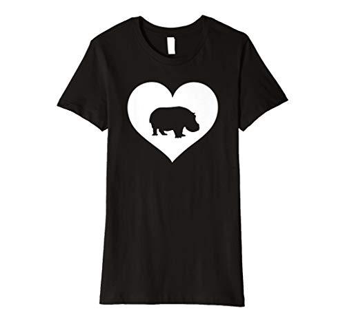 Nilpferd Hippo T Shirt Geschenk für Mädchen Jungen Frauen und Kinder