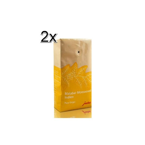 2x Jura Espresso Malabar Monsooned Kaffeebohnen 250g