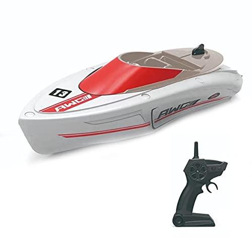 CloverGorge Barco de Carreras de Baja Velocidad H133 2,4G 20 Minutos de Tiempo de Juego Control Remoto de 4 Canales Juguetes al Aire Libre para el Verano Regalo de los niños Barco eléctrico RC
