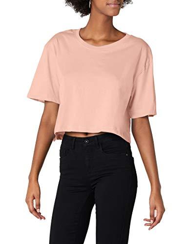 Urban Classics TB1555 Damen T-Shirt Ladies Short Oversized Tee Light Rose, XS