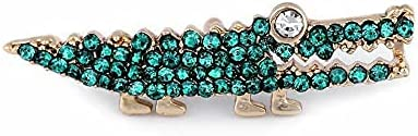 1pc 2green Turquoise Brooch/Badge with Rhinestones Ladybird, Crocodile, Baby Girl, Metal and Glass Brooches, Jewellery