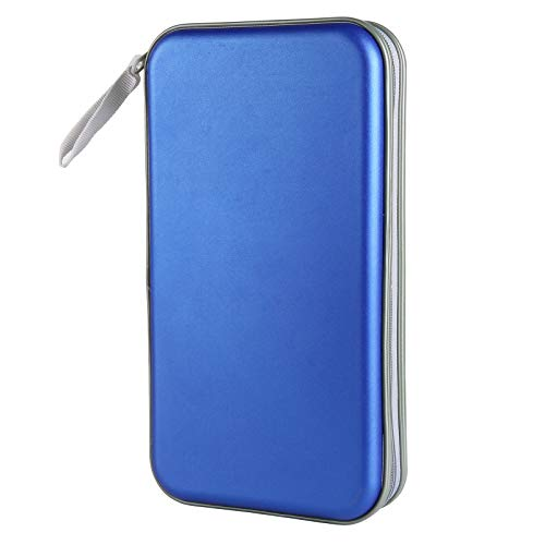 Siveit 80 Capacity Heavy Duty CD/DVD Wallet Binder, Storage, Case, Bag, Holder, Booklet (Blue)