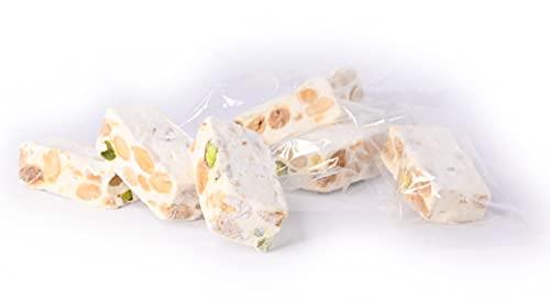 Torroncini siciliani morbidi di produzione artigianale, (gr.400). RAREZZE: prodotti tipici siciliani, cannoli, pasta di mandorle, cassate, da antica pasticceria siciliana.