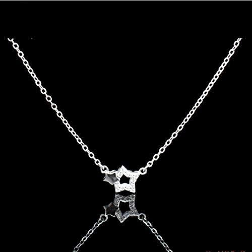 ZPPYMXGZ Co.,ltd Collar con Colgante de Moda, Collar Elegante con Diamantes de imitación, Collar de Cadena de clavícula, Collar de Cadena para Mujer, Regalo para niñas