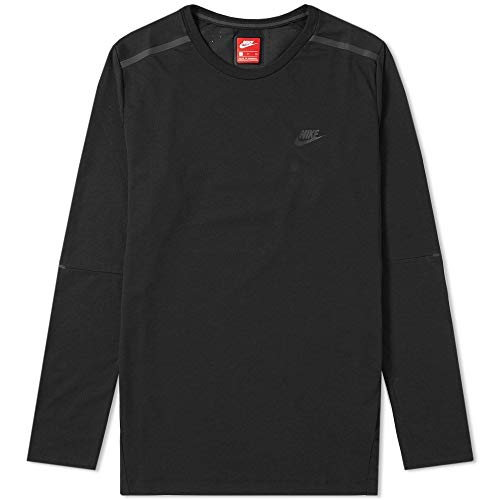 Nike Herren Sportswear Bonded Long Sleeve Shirt L schwarz/schwarz