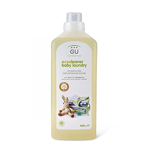 Detergente para Ropa Bebé 1 Litro - Previene las Irritaciones - Ideal Para Pieles Delicadas - Detergente Ecológico No Contiene Sulfatos ni Alérgenos - Apto Para lavado a máquina y a Mano - Gu