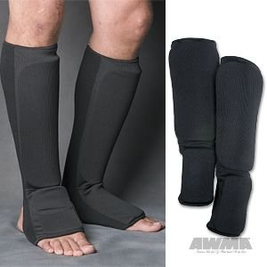ProForce Combination Cloth Shin / Instep Guards - Black - Small,#84970