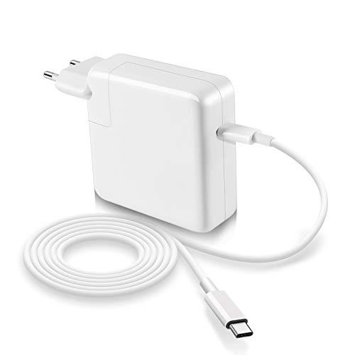 Cargador USB C de 87 W compatible con cargador Macbook Pro USB C de 15 pulgadas 2016 2017 2018, cargador de repuesto para nuevo cargador Macbook Air USB C de 13 pulgadas 2018 con cable USB C