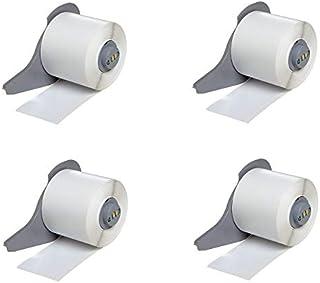Brady High Adhesion Vinyl Label Tape (M71C-2000-595-WT) - Black on White Vinyl Film - Compatible with BMP71 Label Printer ...