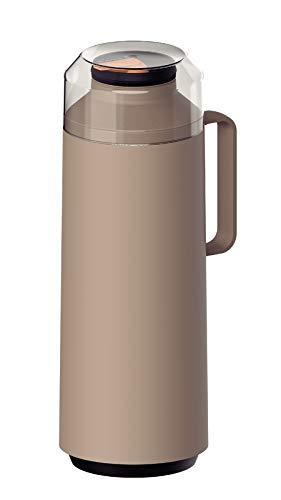 Garrafa Térmica Tramontina Exata em Polipropileno Bege com Ampola de Vidro 1 L
