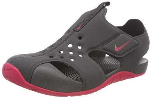 Nike Mädchen Sunray Protect 2 (ps) Sport Sandalen, Mehrfarbig (Anthracite/Rush Pink 001), 33.5 EU