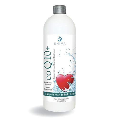 Liquid CoQ10 100mg (16oz) Plus L-Carnitine, Vitamin C, Lecithin Gluten Free. Zero Sugar. Keto Friendly. by Eniva Health.